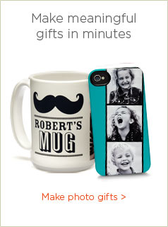 MAKE MEANINGFUL GIFTS IN MINUTES - MAKE PHOTO GIFTS
