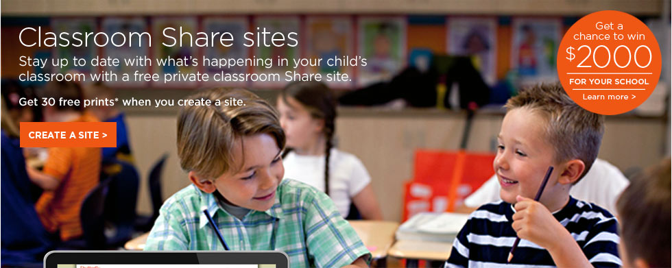 Classroom Share sites - Stay up to date with what's happening in your child's classroom with a free private classroom Share site.