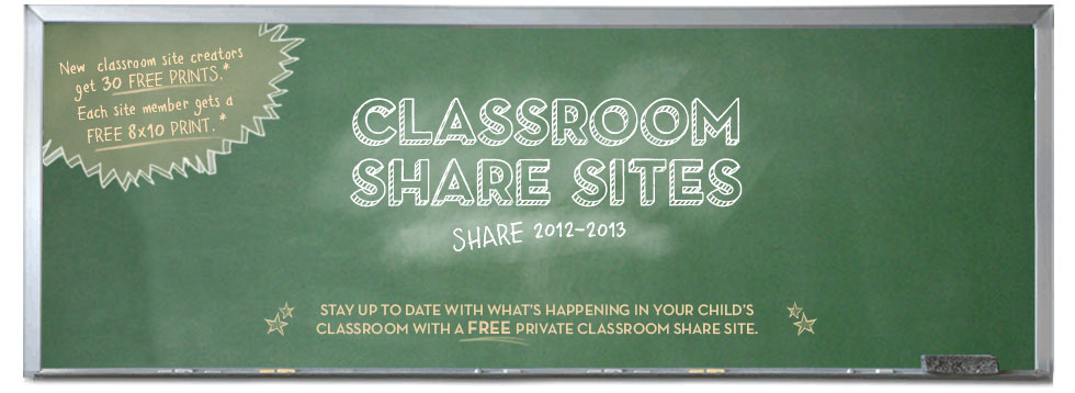 CLASSROOM SHARE SITES - SHARE 2012-2013