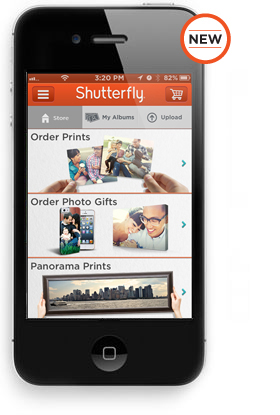 Shutterfly app for iPhone