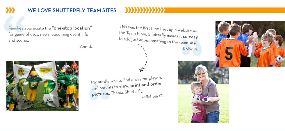We Love Shutterfly Team Sites