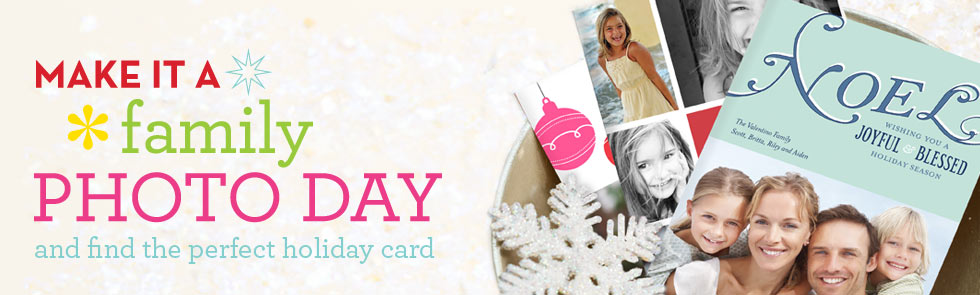 Make It A Family Photo Day And Find The Perfect Holiday Card