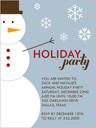 Mister Snowman Christmas Invitation