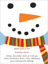 Smiling Snowman Christmas Invitation