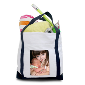 canvas photo tote bag