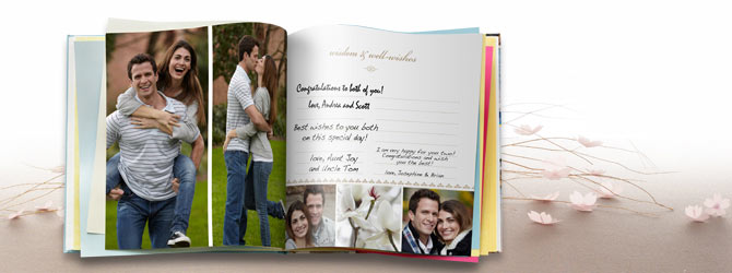 Make your own photo guest book