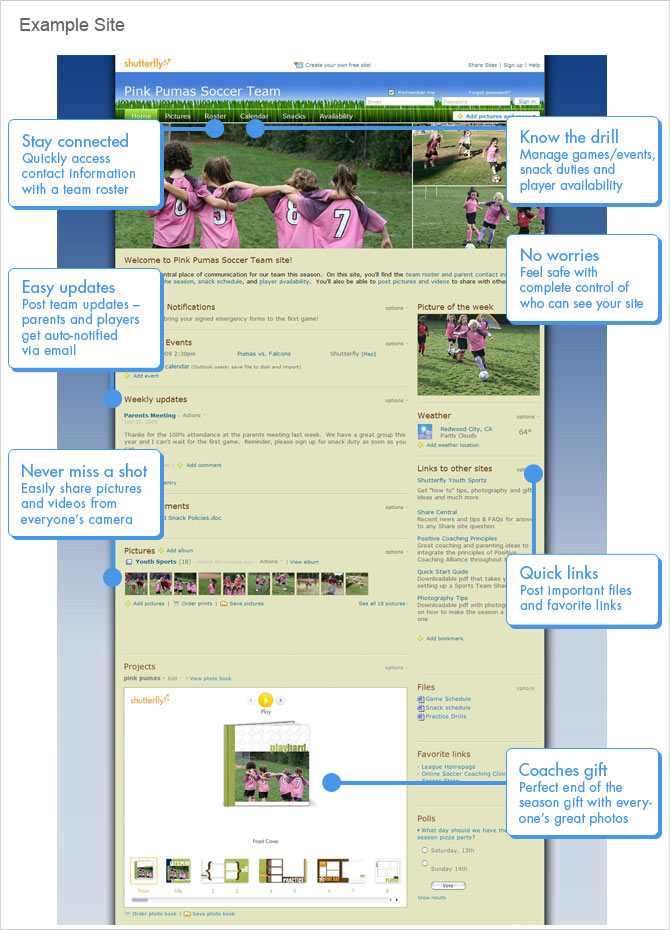 Example Youth Sports Site