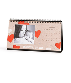 Personalized desk calendars from Shutterfly