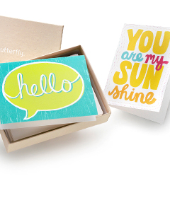 Personalized stationery from Shutterfly