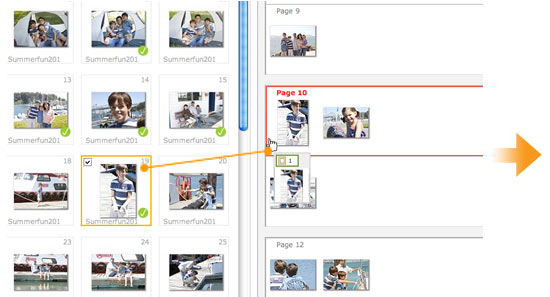 Shutterfly  Photo Book Storyboard Tool